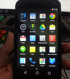 Google Nexus 4 loaded with Android L unofficial update