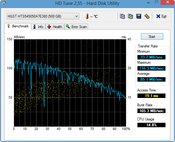 HD Tune 85 MB/s Seq. Read