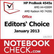 Award Hewlett Packard HP ProBook 4545s