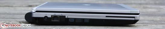 Left side: AC, Ethernet, DVD burner, SmartCard Reader