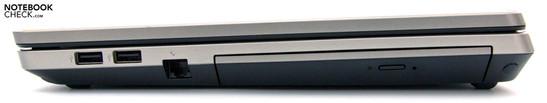 Right: 2x USB 2.0, RJ-11, DVD drive-4530s