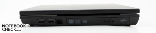 Right: Two USB 2.0s, modem, DVD multi.burner
