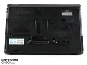 What the ProBook 6555b offers is an abundance of connections including docking- and battery slice port on the underside.