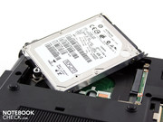 "the Hitachi harddrive (2.5"", 320 GB, 7.200 RPM)."