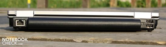 Back: ethernet, 2 x USB 2.0