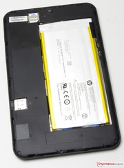 The card slots are located beneath the back side of the case.