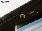A webcam is a matter of course for a multimedia notebook.