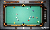 Pool Master Pro exploits the entire screen