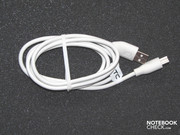 The USB cable is also used for data transfer or for charging the device