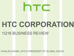 HTC announces sharp sales decline as of Q1 2016