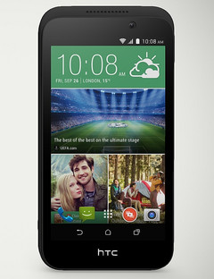 HTC Desire 320 Android smartphone with quad-core processor and 5 MP main camera