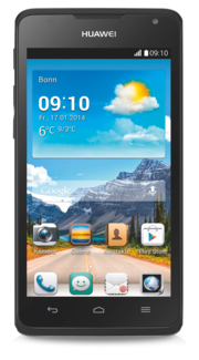 The design of Huawei's Ascend Y530 is contemporary.