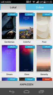 Huawei offers free backgrounds to suit any taste.