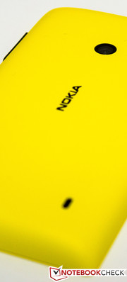 Nokia's yellow Lumia 520 features a high-end build and