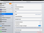 iOS system settings
