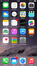 iOS 8 did not really change visually.