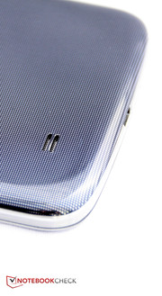 The new phablet looks a lot like the Galaxy S4 - down to the case.