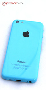 Now available with a colorful plastic case: One of Apple's two new iPhone variants, the iPhone 5c.