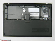 Battery cover removed