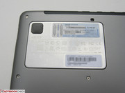 Close-up of HDD cover