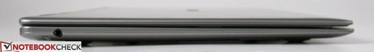 Left: Combo 3.5mm audio jack