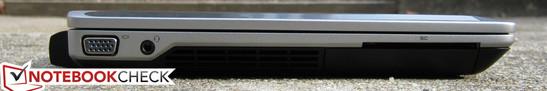Left: VGA-out, 3.5mm audio/headset, SmartCard