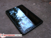 Screen glare can be a problem for outdoor use.