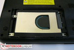The HDD easily accessible and removable