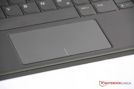 ... as well as the touchpad integrated into the keyboard cover.