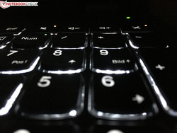 The keyboard illumination can be slightly dazzling depending on your position.