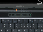 Control Centre of the Sony Vaio VGN-SZ61WN/C with Performance Selector Switch.