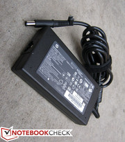 The AC adapter rated at 120W and capable of outputting 19.5V
