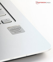 An Intel Celeron SoC powers our review sample.