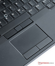 Naturally, a touchpad is also integrated.
