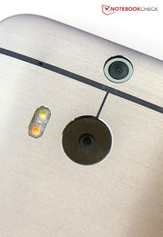 Correct, HTC integrates two cameras at the back, the second sensor helps to focus and captures depth information.