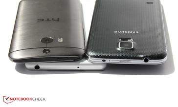 The cases of the Galaxy and Xperia are similarly thin. HTC's One has an ergonomic shape but is slightly thicker.