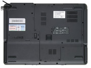 Easy maintenance: The big maintenance cover of the Acer Extensa 5220 can be easily removed after removing some screws...