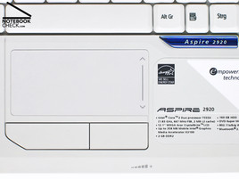 Acer Aspire 2920 Touch pad