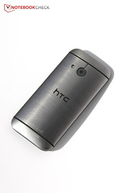 HTC's One Mini 2 is nice to hold owing to its 4.3-inch size and curved back.