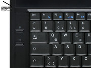 The top-most of the two hot keys on the right side is for faster battery recharging. The one below powers the high-power USB ports even if the notebook is turned off.
