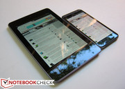 Nexus 7 compared to the HTC Evo 4G LTE (One X)