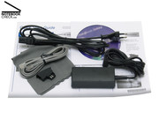 A modem cable and a small micro fibre cloth are included in the shipment.