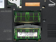 The Vaio VGN-SZ71WN/C supports up to 4 GB RAM. Both memory slots were occupied whereas a total of 2 GB RAM was available in the reviewed notebook.