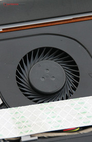 Here, the fan can be cleaned.