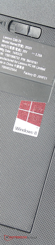 The Windows 8 laptop is powered by an A6-6310 with four CPU cores.