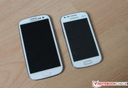 Size comparison with Samsung's Galaxy S3 -