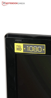The Full-HD display...