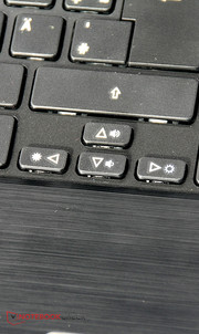 The arrow keys are a bit on the small side.