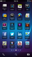 Home screen of BlackBerry 10