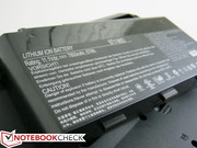 The 7800 mAh battery is dense even for a gaming notebook